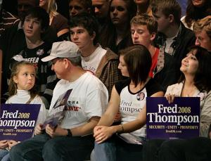 fred thompson rally