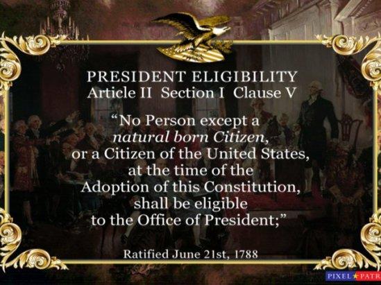 natural born citizen